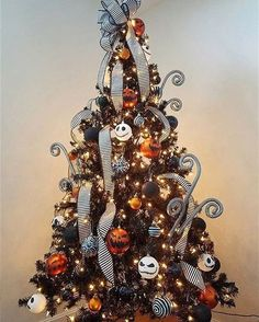 """8,954 Likes, 251 Comments - Disney At Home (@disney_at_home) on Instagram: """"This Nightmare Before Christmas tree from @makeupguyjoe feeds our excitement for Halloween and…"""""""