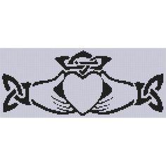 Claddagh 4 Cross Stitch Pattern