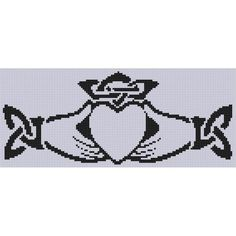 Claddagh 4 Cross Stitch Pattern
