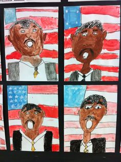 Martin Luther King Portraits  Apex Elementary Art