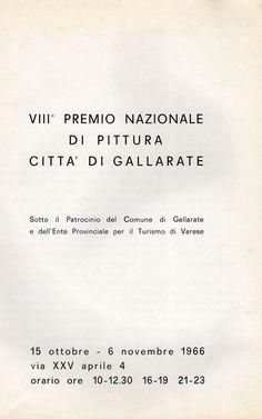 1965 Catalogo Mostra Premio Città di Gallarate