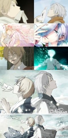 Natsume form Natsume Yuujinchou and Gin from Hotarubi no Mori e. I love both of these anime/manga.
