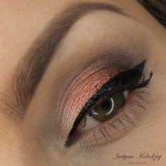 'Brown Days' Idea Gallery look by Dzastina252 using Makeup Geek eyeshadows Corrupt, Glamorous, Pretentious, Shimma Shimma, Vaniila Bean and Birthday Wish pigment.