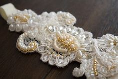 Feminine Ivory Gold Sparkling Bridal by LittleOvertheTopShop