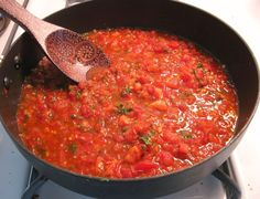 This classic Tomato Sauce recipe is one of the five mother sauces of classical cuisine. Clean Recipes, My Recipes, Creole Sauce, Cooking Onions, Salt Pork, Tomato Sauce Recipe, Mexican Cooking, Fried Vegetables, Eating Raw