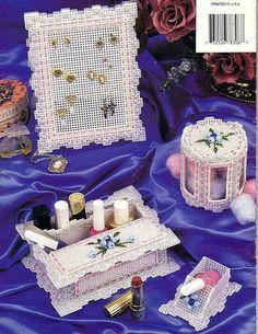 Beaded floral vanity set