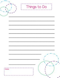 pretty to do list template