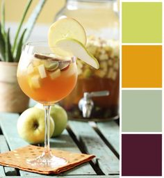 Find color inspiration anywhere! This apple cider sangria makes a great color palate for a living room! #mycolortopia