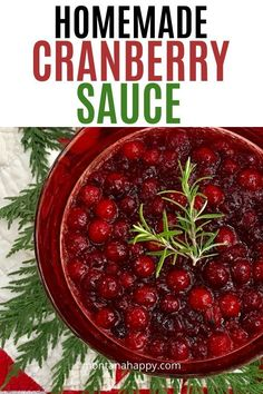 Four Kitchen Decorating Suggestions Which Can Be Cheap And Simple To Carry Out Easy Homemade Cranberry Sauce - The Perfect Side Dish To Go With Your Thanksgiving Turkey. Just Four Ingredients Makes This Recipe One To Have On Hand. Single Serve Desserts, Desserts For A Crowd, Winter Desserts, Party Desserts, Christmas Desserts, Thanksgiving Turkey, Thanksgiving Recipes, Holiday Recipes, Christmas Recipes