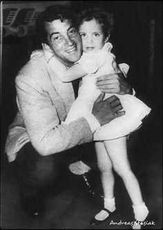 Dean Martin and his little fan,Amy Goodman. Cute