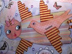 Mixed-media, paintings, Art journaling, crafts by Susanna; sielunsolinaa.blogspot.com