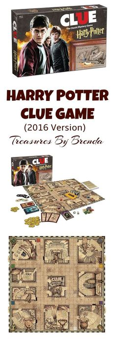 Woo Hoo!!! The Clue Harry Potter board game has been re-released (2016.) HP Clue is a family favorite at our house and I could not be more pleased that thousands of Harry Potter fans will now have a chance to play the traditional murder mystery game...with a Harry Potter twist. It is a most excellent board game. Housepoints, anyone? From Movie Treasures By Brenda - @TreasuresByBren