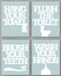 Bathroom wall decor, This would be cute in our bathroom that has the blue toilet!