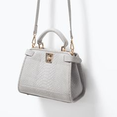 ZARA - SHOES & BAGS - MINI CITY BAG WITH DOUBLE CLOSURE