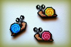 Snails hama beads by  ArtesanDroides