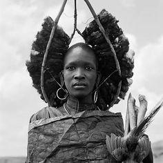 Africa | Masai warrior, Kenya, 1985 | © Dana Gluckstein
