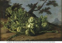 Melendez, Still Life with Artichokes. Private Collection.