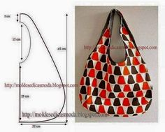 Sew a bag made of fabric with your hands. reversible bag Mod@ en Line Bolsa tecido com molde - Mari Belajar Menjahit Moules Fashion for Measure: SACS avec des mesures Cute and easy bag pattern Bag Patterns To Sew, Sewing Patterns, Patchwork Patterns, Tote Pattern, Fabric Patterns, Patchwork Bags, Simple Bags, Easy Bag, Denim Bag