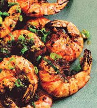 Paprika, chili powder, and cumin add delicious heat to the shrimp in this 30-minute recipe. Serve it on a large platter at a summer party.