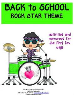 Back to School Pack Rock Star Theme from No Monkey Business on TeachersNotebook.com -  (30 pages)