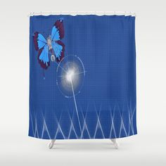 Items similar to Butterfly Mecanism Shower Curtain - 71 in x 74 in Gift Cute Kids Children Apartment Bath Bathroom Nursery Decor Accent Original Art on Etsy