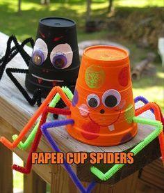 paper cup spiders halloween halloween decorations halloween crafts halloween ideas diy halloween halloween party decor halloween craft halloween craft ideas halloween kids crafts halloween kids diy