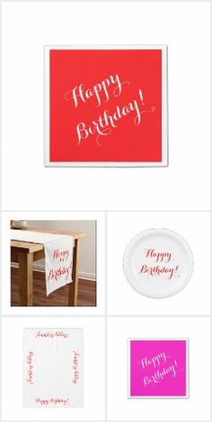 Happy Birthday Collection by Amy Steeples.  Available on Zazzle.