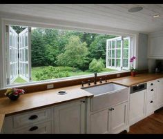 Image result for pass through kitchen window