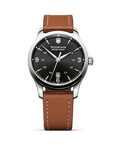 Victorinox Swiss Army Alliance Leather Strap Watch, 40mm | Bloomingdale's