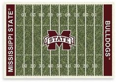 NCAA Mississippi State University 7-Foot 8-Inch x 10-Foot 9-Inch Large Home Field Rug