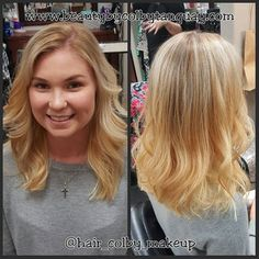 #balayage on this cutie!! Went #blonder with the help of #olaplex And a drastic #haircut. Forgot to do a before picture!  #beautybycolbytanguay #hairpainting #wellablondor #ochairstylist #daviddouglassalon #haircolorspecialist