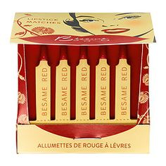 Strike up a Hollywood siren look with these Classic Color Lipstick Matches from Bésame Cosmetics. Each one features an original red lip color from 1920 that stays put while flaunting a get-noticed, semi-matte finish. #Sephora #Makeup #Lips