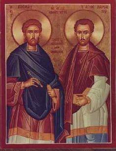San Cosme y San Damián  http://oracionescatolicasymas.blogspot.mx/2013/09/san-cosme-y-san-damian.html