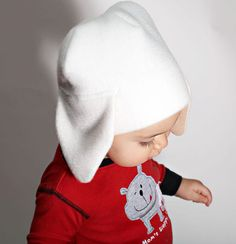 Check out this item in my Etsy shop https://www.etsy.com/listing/116219030/baby-puppy-hat-white-fleece-winter-hat