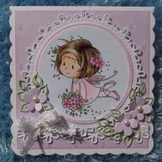 ink'n'rubba: A simple Fairy wish! Wee Stamps fairy digi coloured with Copics, die cuts by Marianne Design