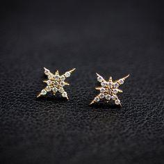 Starburst Diamond Studs – Envero Jewelry