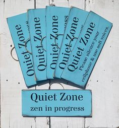 """Signs By Seasalt on Instagram: """"These Quiet Zone signs have been sent to a yoga retreat in Sweden. 🇸🇪 I'm now considering making extras to have around my house. Love the…"""""""