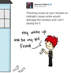 I feel like Mikey would do this in real life haha 5sos Funny, 5sos Memes, 5sos Tweets, Bae, Michael Clifford, Mikey Clifford, Second Of Summer, 1d And 5sos, Up Girl