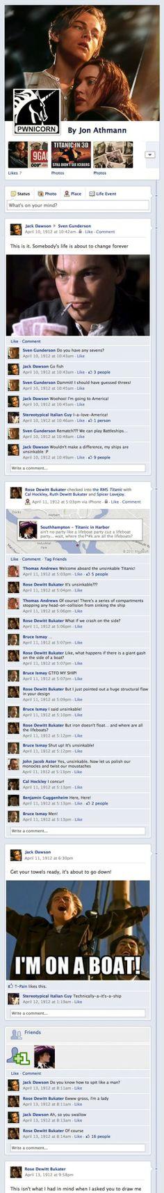 Titanic's Final Facebook Posts   MakeUseOf Geeky Fun