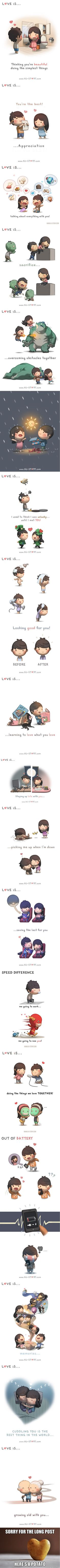 """These """"Love Is..."""" Illustrations Are Too Cute To Handle (By HJ Story)"""
