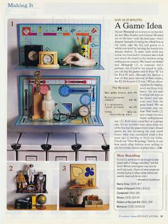 Gameboard shelves!
