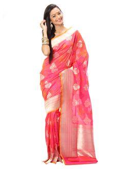 Baby pink Opara pure silk saree Ikkat Pattu Sarees, Handloom Saree, Kurti, Indian Sarees Online, Silk Sarees Online, Baby Pink Saree, Traditional Sarees, Pure Silk Sarees, Online Shopping Stores