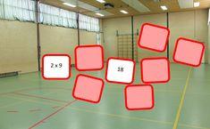 Math Gym: Reken Memory in de gymzaal School
