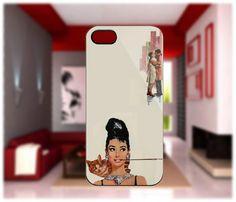 Audrey Hepburn Breakfast At Tiffanys Custom Case For IPhone 5, IPhone 4/4S, Samsung Galaxy S2, Samsung Galaxy S3 Hard Case
