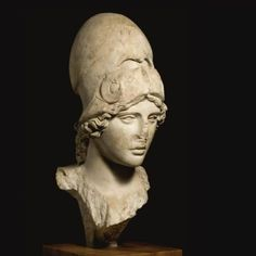 A Marble Bust of the Athena Giustiniani, Roman Imperial, circa 2nd Century A.D.