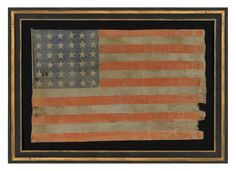 After Nevada became the 36th US State on October 31, 1864, a star needed to be added to the official US flag. As usual, the new 36 star flag was made effective on the next 4th of July, in this case, July 4, 1865. A 37th star was added effective July 4, 1867 to accommodate the addition of Nebraska. Some 36 star flags were produced prior to July 4, 1865 in anticipation of the change.