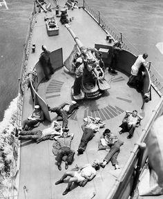 Enjoying Down Time, Naval Ship 1940's