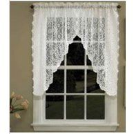 Home Cream Kitchen Curtains Valance Window Toppers