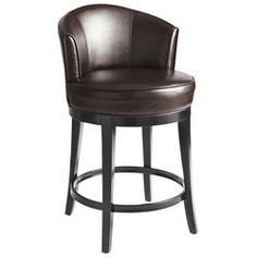 Isaac Swivel Counter Stool - Brown