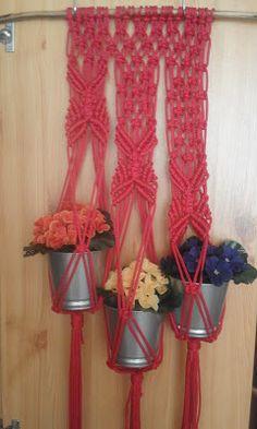 Adriana  Hobby: Macrame - Suport pentru flori Plant Hanger, Manual, Decor, Dekoration, Decoration, Textbook, User Guide
